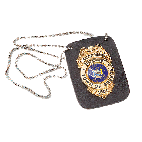 MODEL #23: BADGE HOLDER WITH CHAIN - Slim Line Case Company