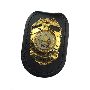 MODEL #18: OVAL VELCRO BADGE HOLDER - Slim Line Case Company