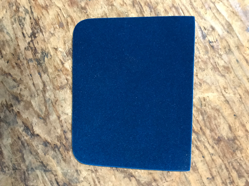 Suede for badge cases