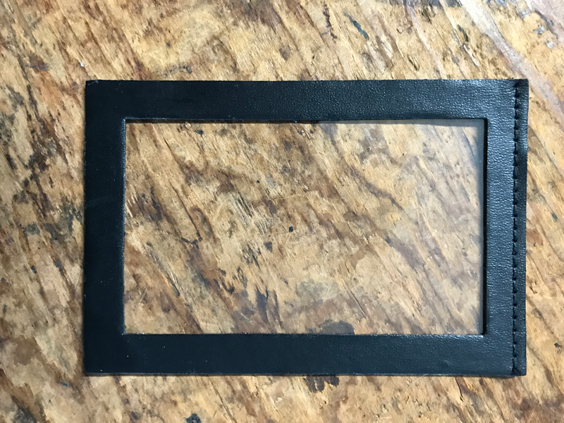 ID window for badge case
