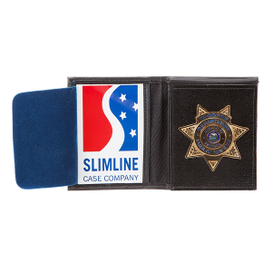 MODEL #7: DISPLAY BADGE CASE WITH BADGE FLAP - Slim Line Case Company