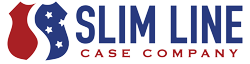 Slim line case company logo, badge cases